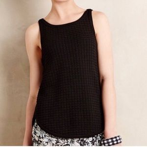 Anthropologie Moth Textured Knit Sweater Tank Top